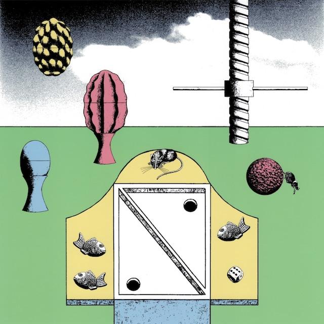 絵画 絵 ピクチャー 縁起画 モダン シェアハウス アートパネル アート art 14cm×14cm 一人暮らし 送料無料 インテリア 雑貨 壁掛け 置物 おしゃれ 現代アート イラストレーション ロココロ 画家 : 斉木晃 作品 : 続きの続き