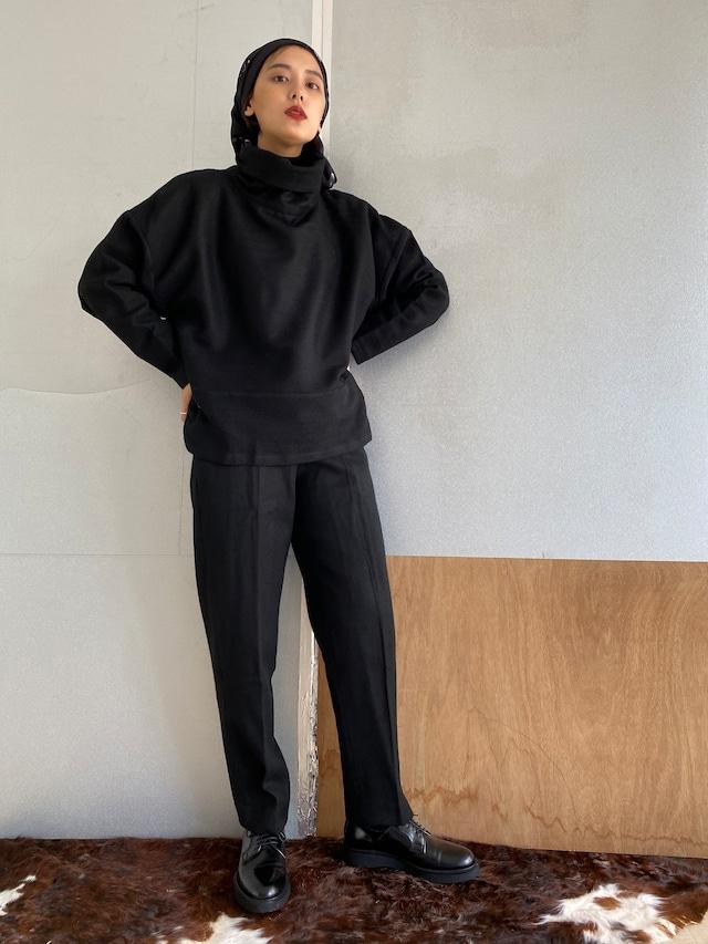 "High neck pullover  ""black"" khadi wool"