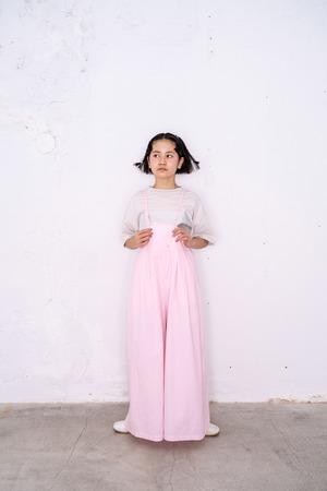 【21SS】フランキーグロウ ( frankygrow ) AIRY WIDE OVERALL DYED[ S / M  ]pink  オーバーオール サロペット オールインワン