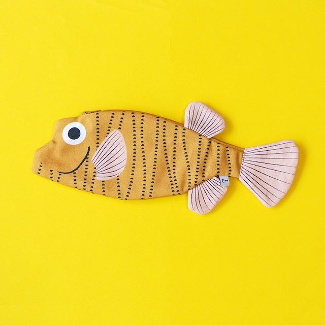 《魚/ふぐ》おさかなポーチ DON FISHER ドンフィッシャー Boxfish スペイン 輸入雑貨 イエロー