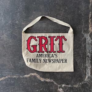 Vintage Grit newspaper bag dead stock