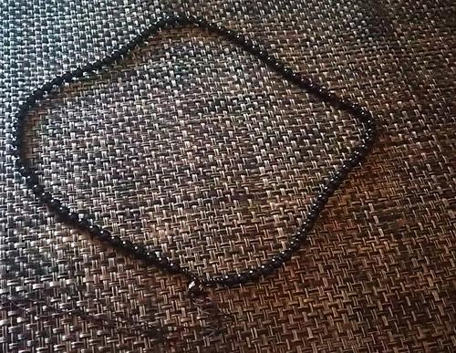 ブラックビーズ  翡翠 ネックレス
