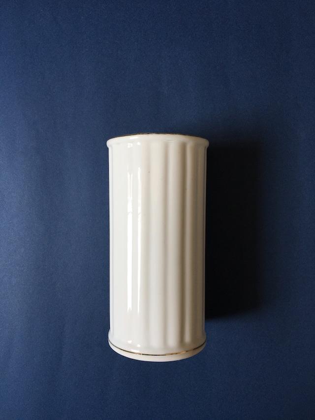 Gold Stripe White Cylinder