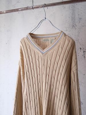 ramie v-neck knit