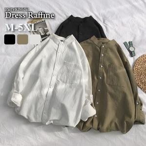 袖シャツ ビッグシルエット オーバーサイズ スタンドカラー トップス 袖なし レディース おしゃれ ブラウス カーキ ホワイト 白 ブラック 黒 tp0030