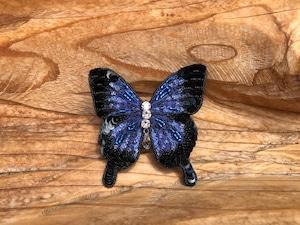 Atelier Sankayou 幸福の青い蝶『ユリシス』手刺繍ブローチ 一点物