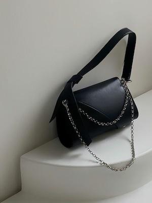 【WOMENS】FLAP CHAIN BAG / Black