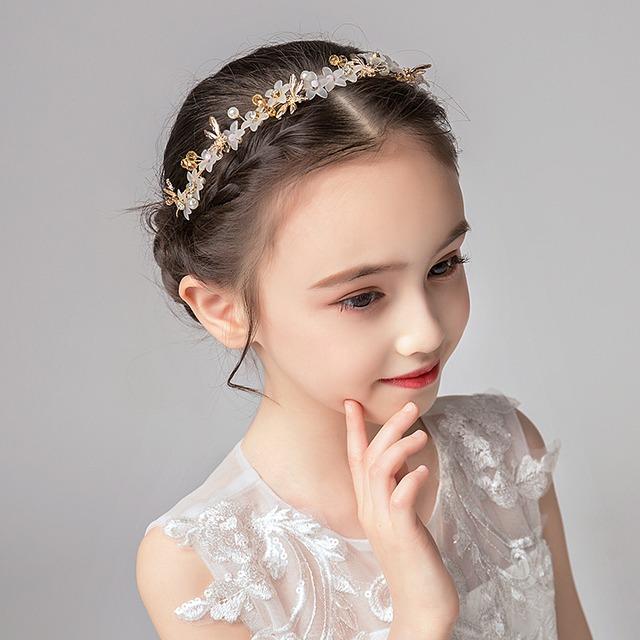 子供アクセサリー 子どもアクセサリー ヘアーアクセサリー 髪飾り ヘッドドレス キッズ 結婚式 ウェディング 入学式 入園式 発表会 入園式 卒園式 七五三 プレゼント アクセサリー シンプル 合わせやすい