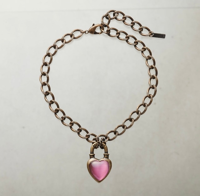 Never End®  Chain Choker/Necklace Gold/Pink #0102 ネバー・エンド チョーカー/ゴールド/ピンク