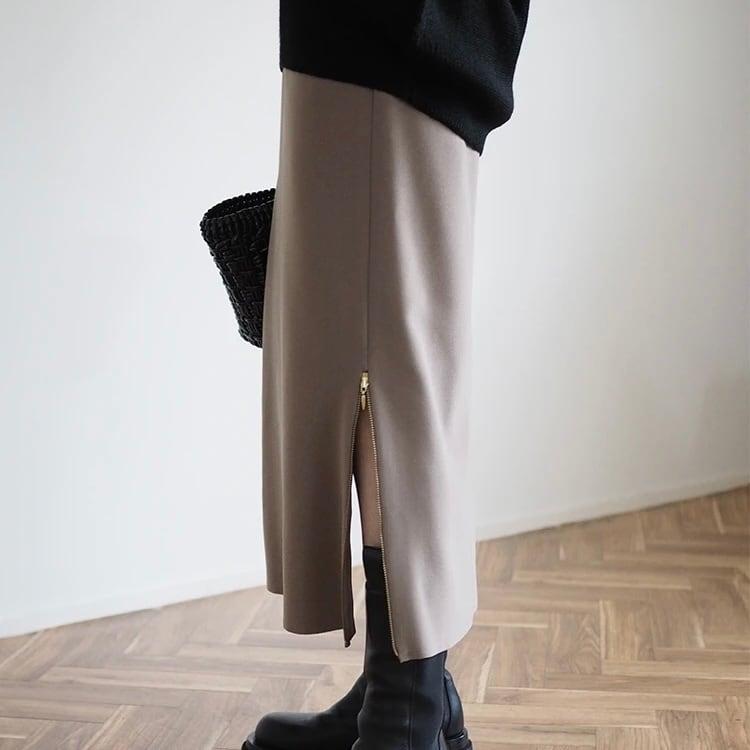 【 ANIECA 】Side zip skirt