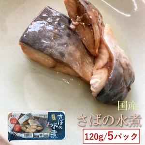 国産 【さばの水煮 120g×5袋】保存料・化学調味料不使用 【送料無料】