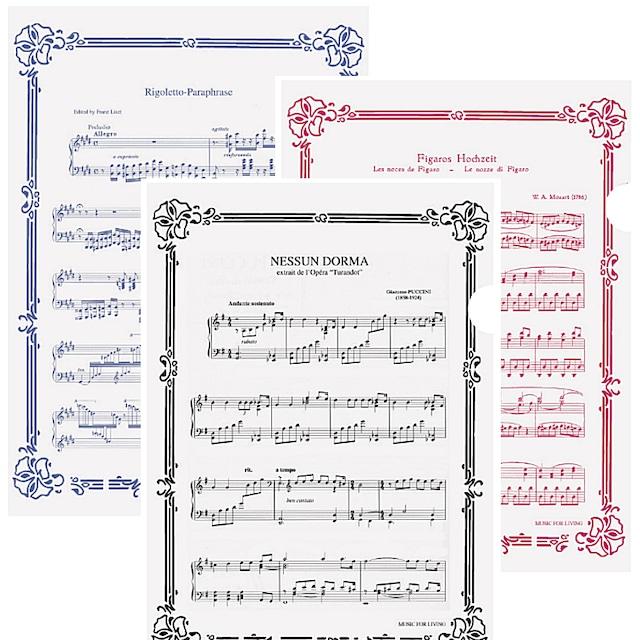 A4クリアファイル(3枚セット)オペラ