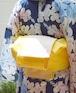 半幅帯【hikari麻の葉】たんぽぽ色