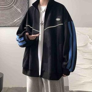 カラーラインジャージジャケット M-XL