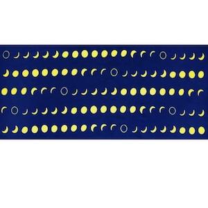 手ぬぐい「月の満ち欠け」