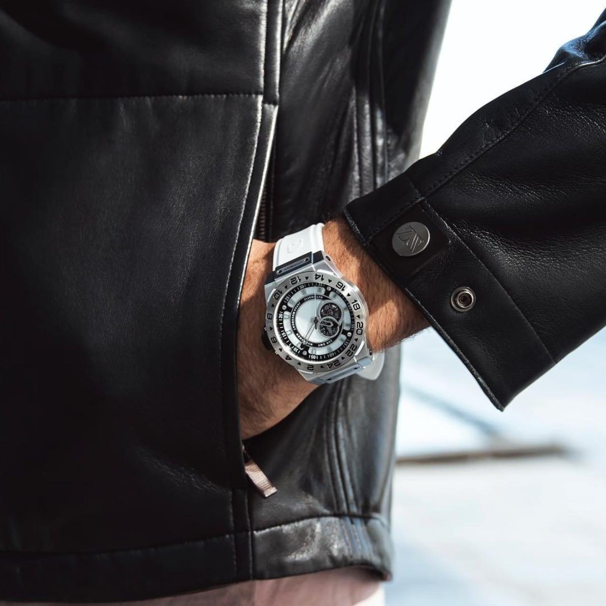【HYDROGEN WATCH ハイドロゲンウォッチ】HW424400/VENTO ヴェント(ホワイト×シルバー)/国内正規品 腕時計