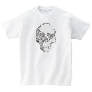 ドクロ Tシャツ メンズ レディース 半袖 パンク シンプル ゆったり バンド トップス 白 30代 40 代 ペアルック プレゼント 大きいサイズ 綿100% 160 S M L XL