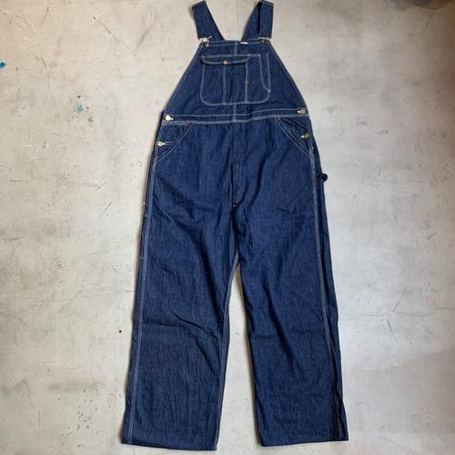 50's BLUE BELL デニムオーバーオール 濃紺 ミントコンディション ブルーベル ライトオンス SAIL CLOTH ワークウェア W44 希少 ヴィンテージ BA-1217 RM1586H