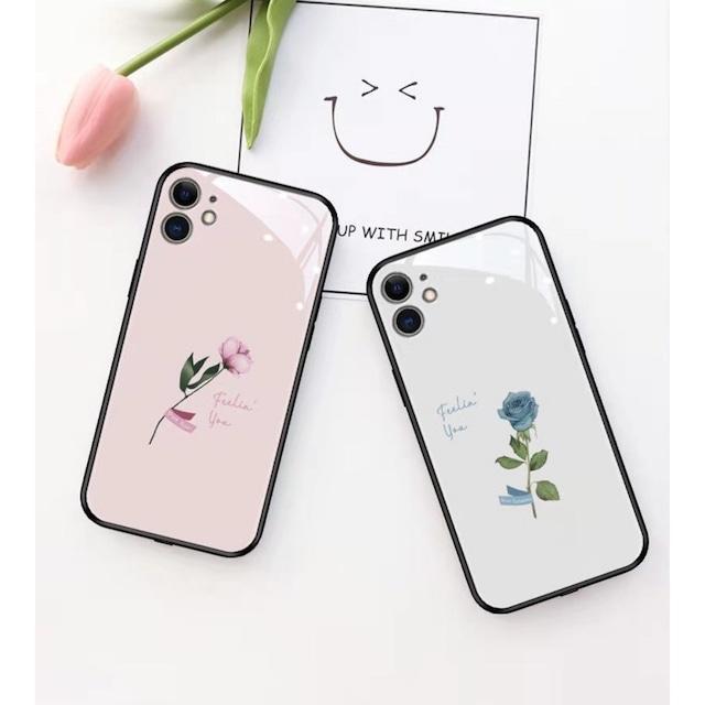 Glass Sound rose flower iphone case