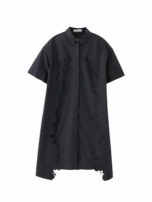 Layered shirt dress  / navy / S15DR01