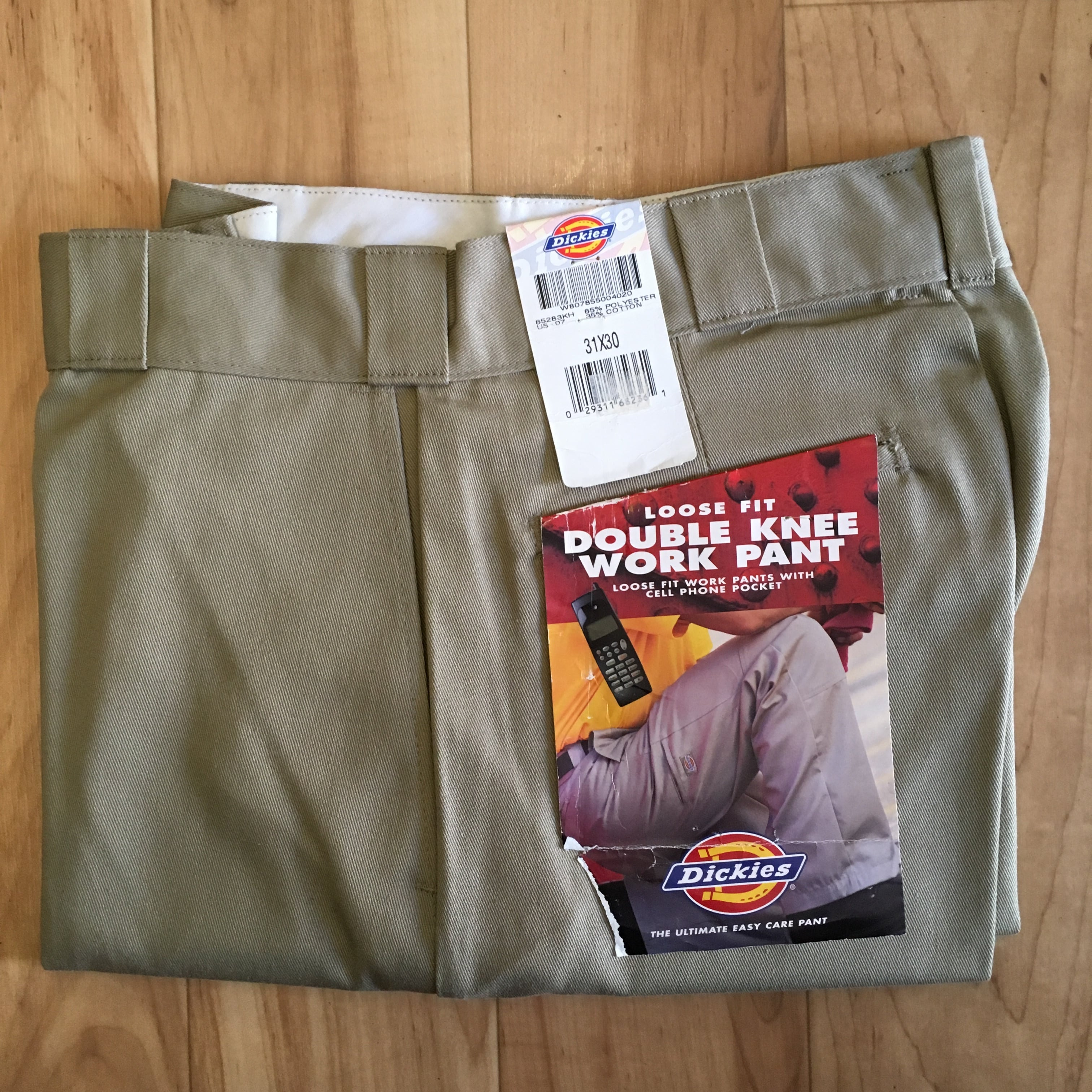 """""""NOS"""" Dickies Loose Fit Double Knee Work Pants-KHAKI <Made in USA>"""