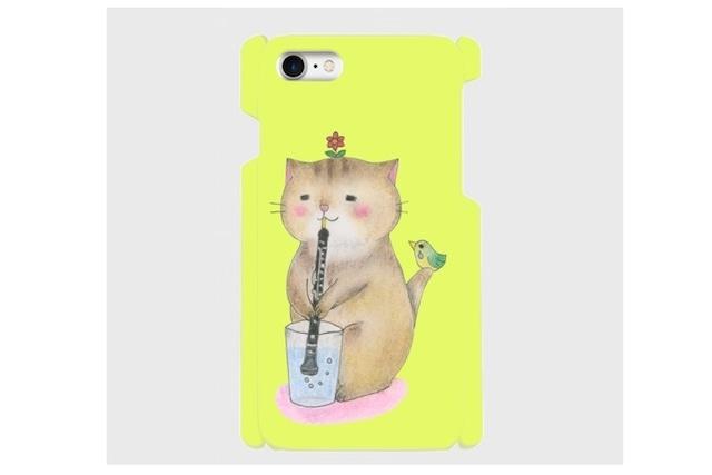 (iPhone用)オーボエ猫のスマホケース