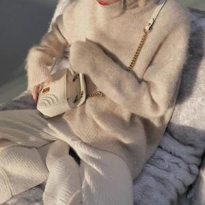 brown fur knit