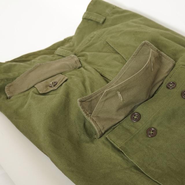 【MADE IN FRANCE】【DEADSTOCK】フランス軍 M47パンツ 前期 比翼ボタン / 15サイズ