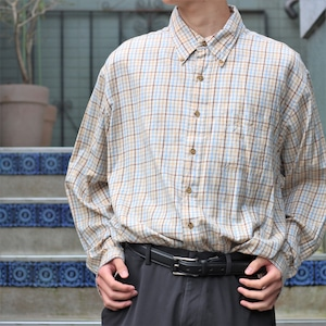 USA VINTAGE BROOKS BROTHERS CHECK PATTERNED LONG SLEEVE SHIRT/アメリカ古着ブルックスブラザーズチェック柄長袖シャツ