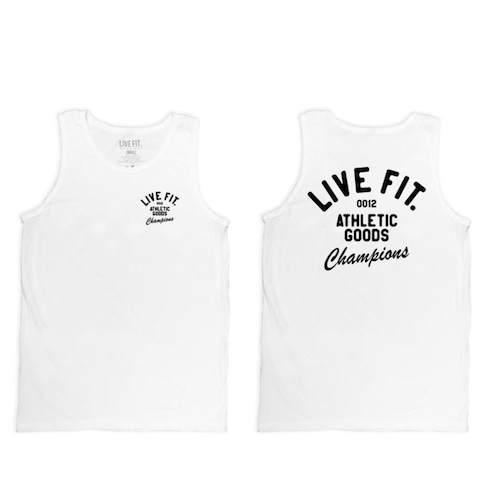 LIVE FIT Athletic Goods Tank - White