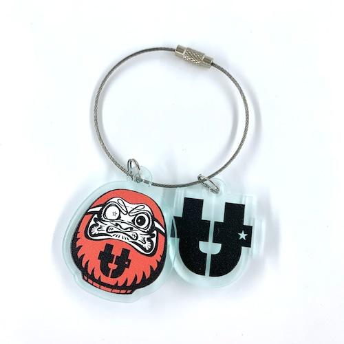 "tt ""達磨-Daruma-"" key holder"