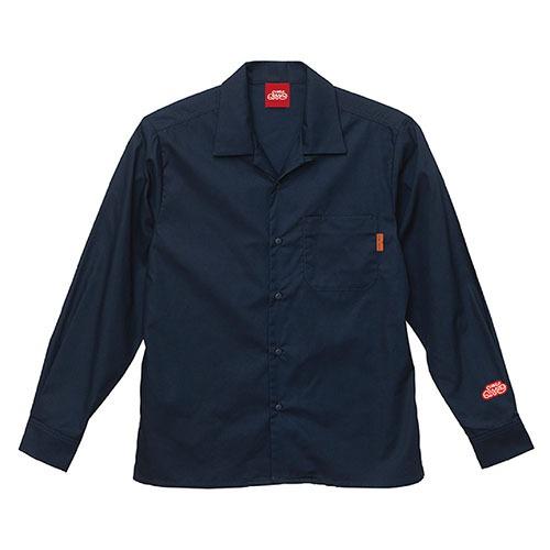 オープンカラーシャツ 長袖 / ネイビー | SINE METU - シネメトゥ