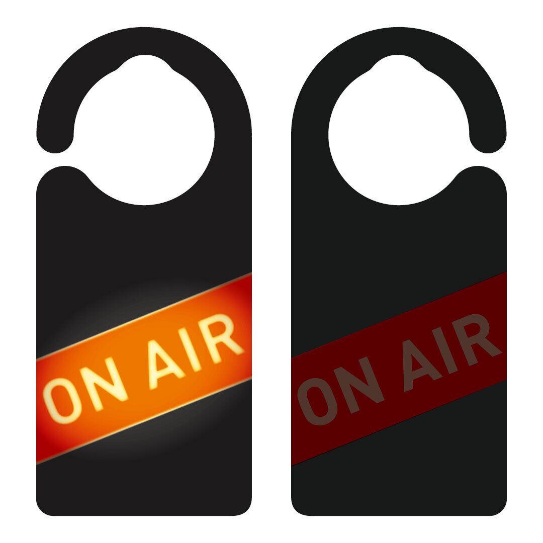 ON AIR(生配信中)[1073] 【全国送料無料】ドアサイン ドアノブプレート