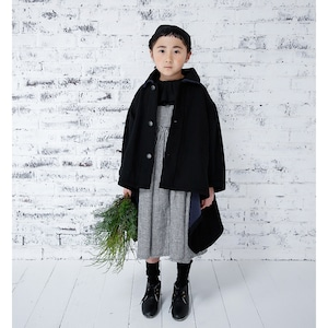 Last one XL!michirico back fleece coat  ブラック (L/XL)[MR20AW-18] ※メール便不可