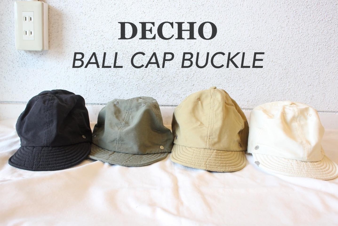 DECHO(デコー)/  BALL CAP BUCKLE(ボールキャップ バックル)