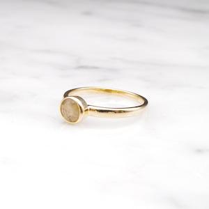 【RESTOCK】S925 MINI LABRADORITE RING GOLD