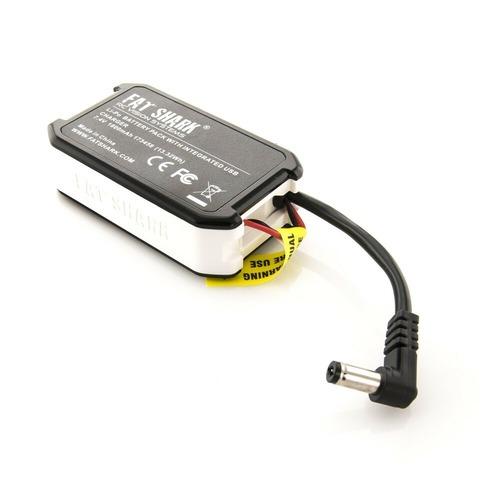 FatShark 1800mAh 7.4v Battery Pack USB Charging LED Indicator