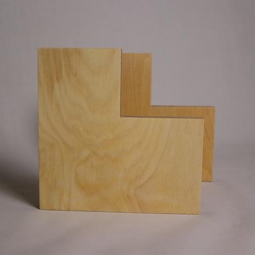 ブックエンドしかく / 木製&スチール