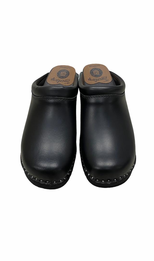 TROENTORP / Swedish Clog - Plain Toe / Smooth(BLACK)