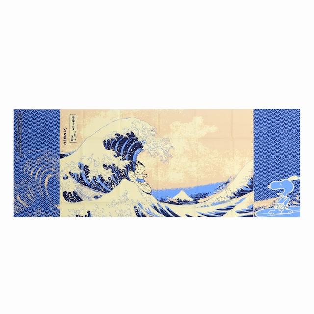 スヌーピー  手ぬぐい 神奈川沖浪裏