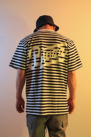 LOGO Horizontal Stripes TEE [NAVY]