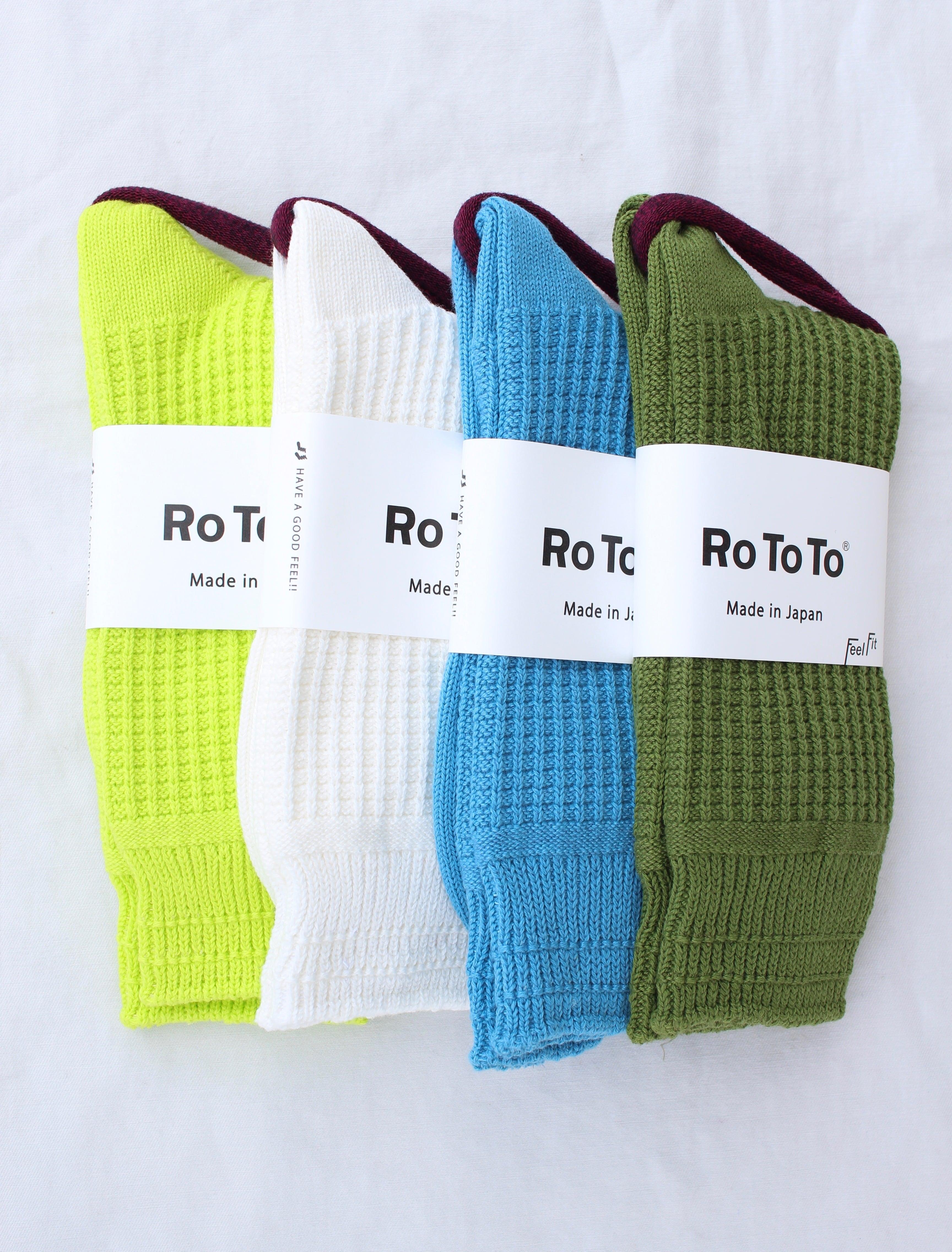 ROTOTO(ロトト)/ Cotton Waffle Socks(コットンワッフルソックス)