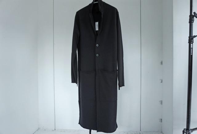 thom krom / Jersey long coat / BLK
