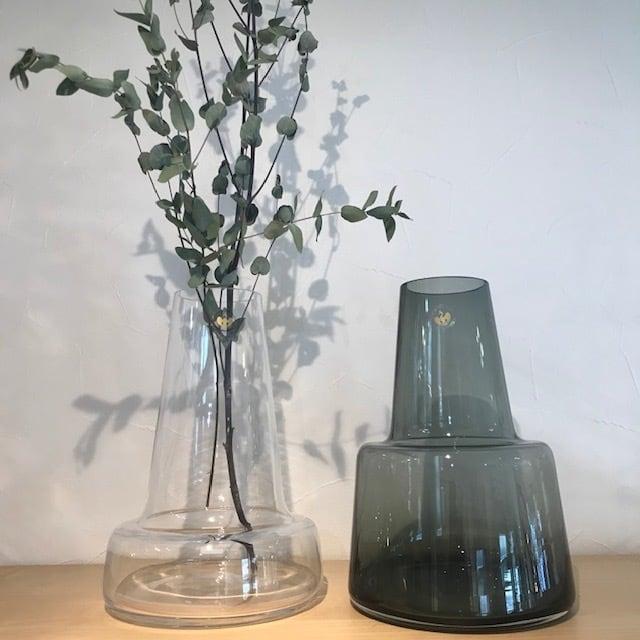 Holmegaard(ホルムガード)花瓶 フローラベース 24センチ ロング クリア