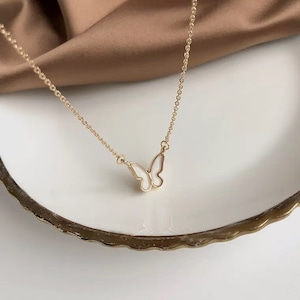 butterfly plate necklace