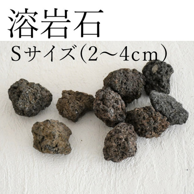 溶岩石 Sサイズ(2〜4cm)5〜8個入り【レイアウト用・着生用】