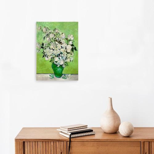 素敵なアートパネル A 4サイズ 花瓶のバラ フィンセント・ファン・ゴッホ