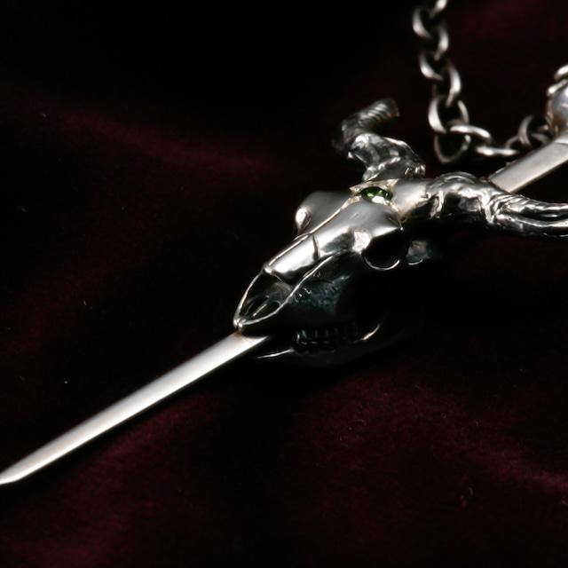 Skull Goat Sword Cross