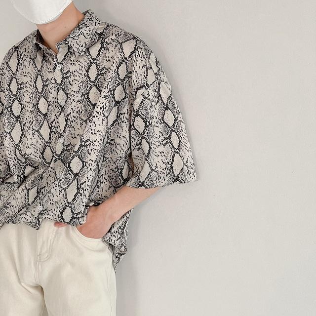 スネークプリントシャツ YH8824