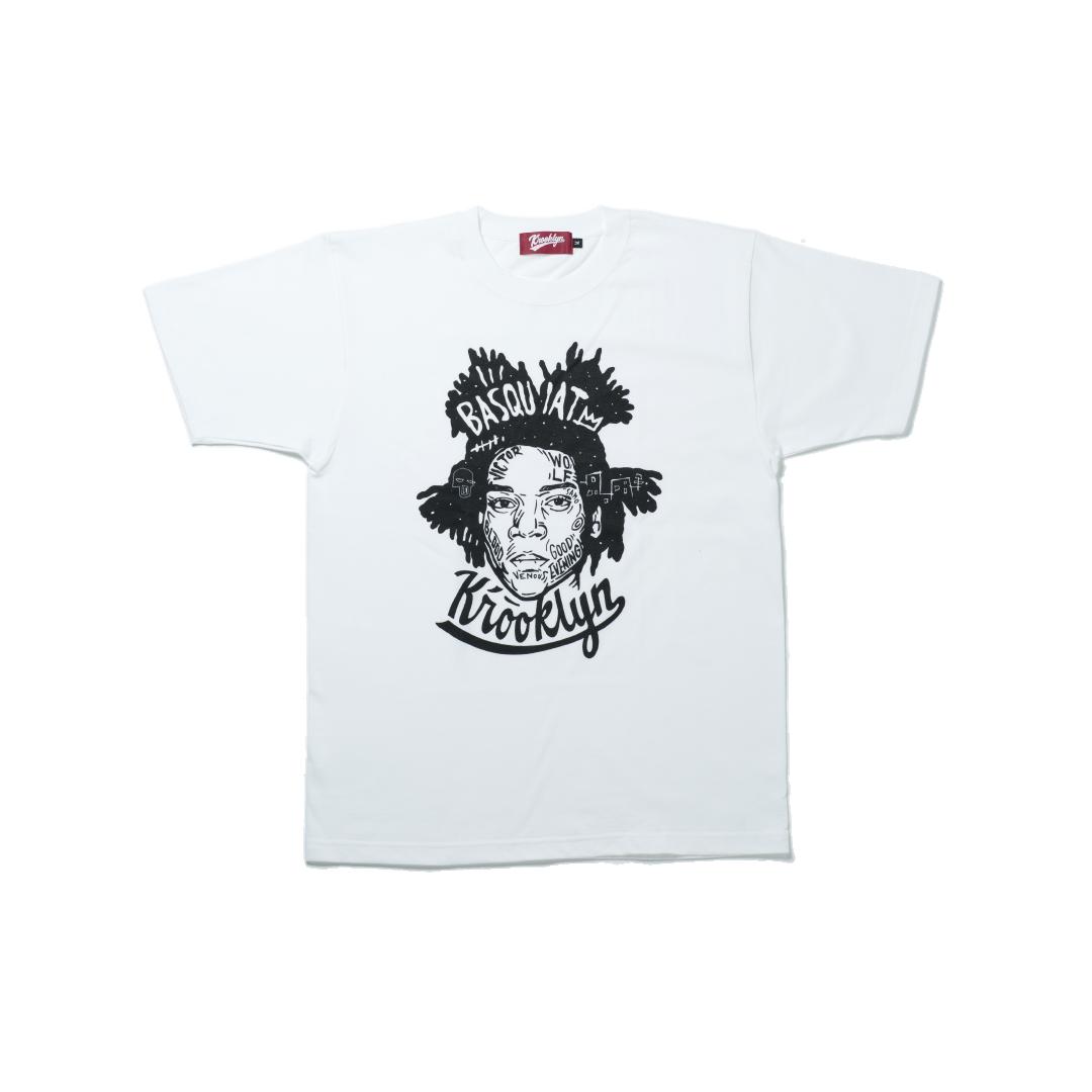 K'rooklyn T-Shirt × 上岡 拓也 BASQUIAT - White